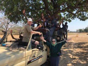 アフリカのサファリでのワンプラネットカフェ社との出会い