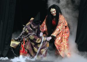 The Asahigaoka Kagura troupe performs in Hiroshima