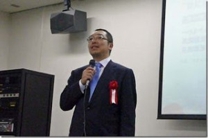 Hattori sensei giving his speech