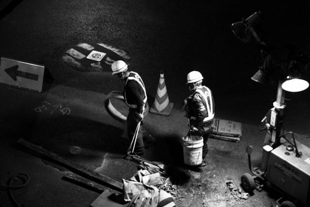 roadworkers in tokyo