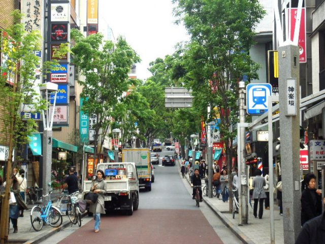 kagurazaka shopping district in Tokyo