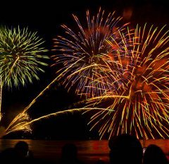 Enoshima Island Spa fireworks