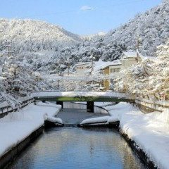 Kinosaki onsen on deep japan