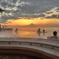 enoshima island spa view of Mt Fuji