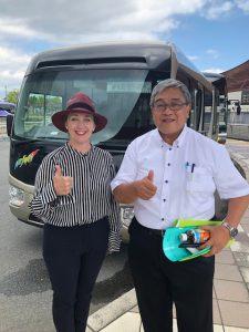 Ruth Jarman and Professor Shinohara